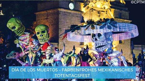 Día de los muertos – farbenfrohes mexikanisches Totentagsfest